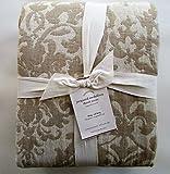 Pottery Barn JACQUARD MEDALLION Duvet Cover King/California King ~Ivory/Flax/Neutral~