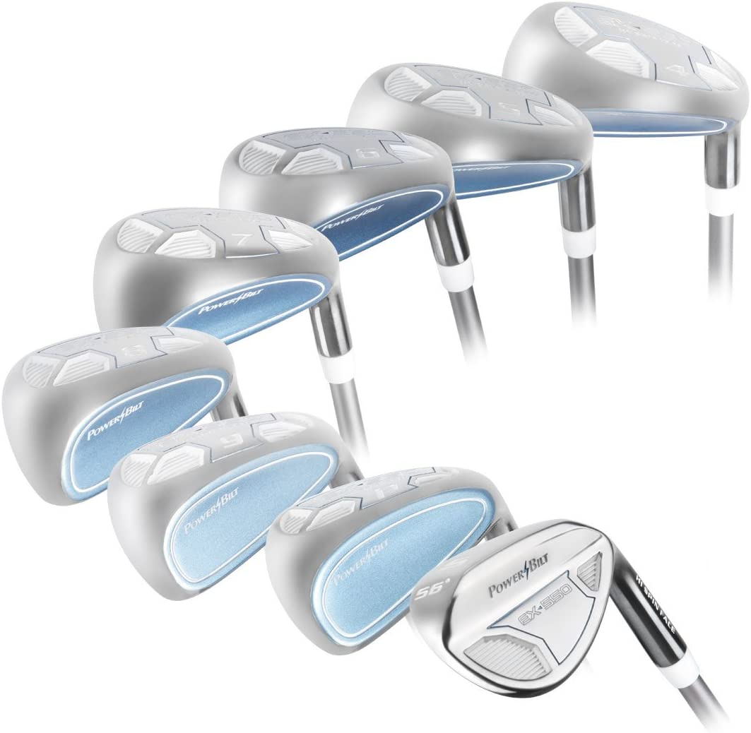 PowerBilt Golf Women s EX-550 Hybrid Iron Set 4-PW, SW