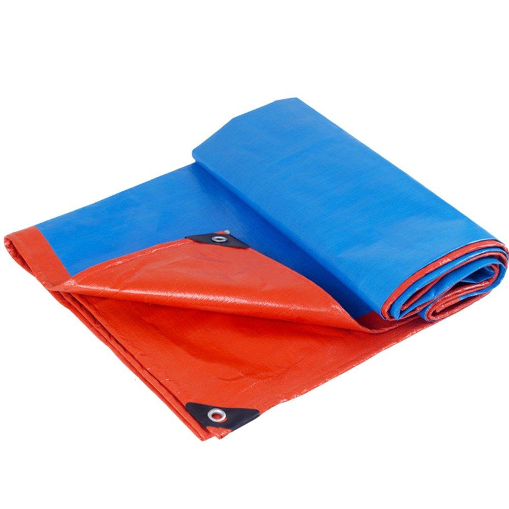 CHAOXIANG ターポリン テント シェード布 カラーストリップ ポンチョ アウトドア 厚い 鍵穴 折りたたみが簡単 PE、 160G/㎡、 22サイズ (色 : Blue+Orange, サイズ さいず : 3X4m) B07FTKSX13 3X4m|Blue+Orange Blue+Orange 3X4m