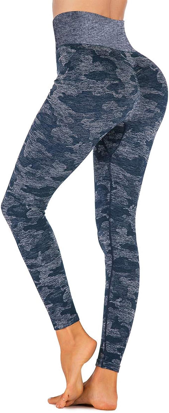 Yaavii Women Christmas Leggings High Waist Yoga Pants Tummy Control Gym Workout Leggings