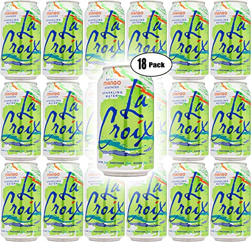 La Croix Mango Naturally Essenced Flavored Sparkling Water, 12 oz Can (Pack of 18, Total of 216 Oz)