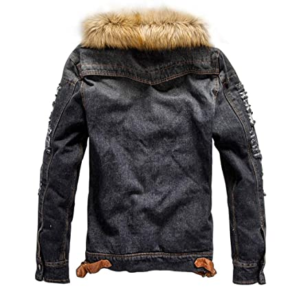 Amazon.com: Mens Flick Denim Autumn Winter Pocket Button ...