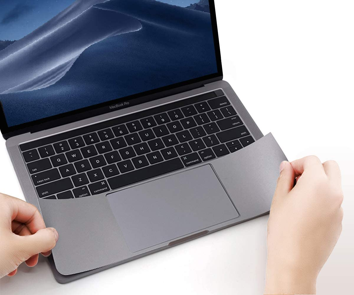 FORITO Palm Rest Cover Skin with Trackpad Protector Compatible with MacBook Pro 15 Inch 2019 2018 2017 or 2016 Released Model A1707 A1990 with Touch Bar (Space Gray)