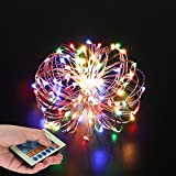 #10: LED String Lights,22ft/10m colorful decorative lights string LED Copper Wire Light Dimmable With Remote Control for Holiday,Bedroom, Garden, Gate, Yard, Party, Wedding and decoration.