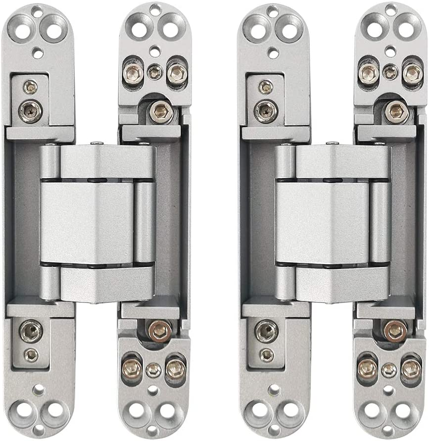 Alamic Concealed Door Hinges Heavy Duty Invisible Hidden Hinges 3-D Adjustable 1 Pair