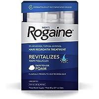 Rogaine Para homens, tratamento para crescimento de cabelo, espuma de 3 meses