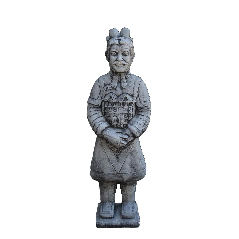 Steinfigur kleiner Chinesischer Terrakotta Krieger Soldat Zen Samurai Steinguss