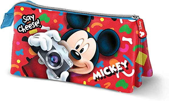 Mickey Mouse Say Cheese-Estuche Portatodo Triple: Amazon.es: Equipaje