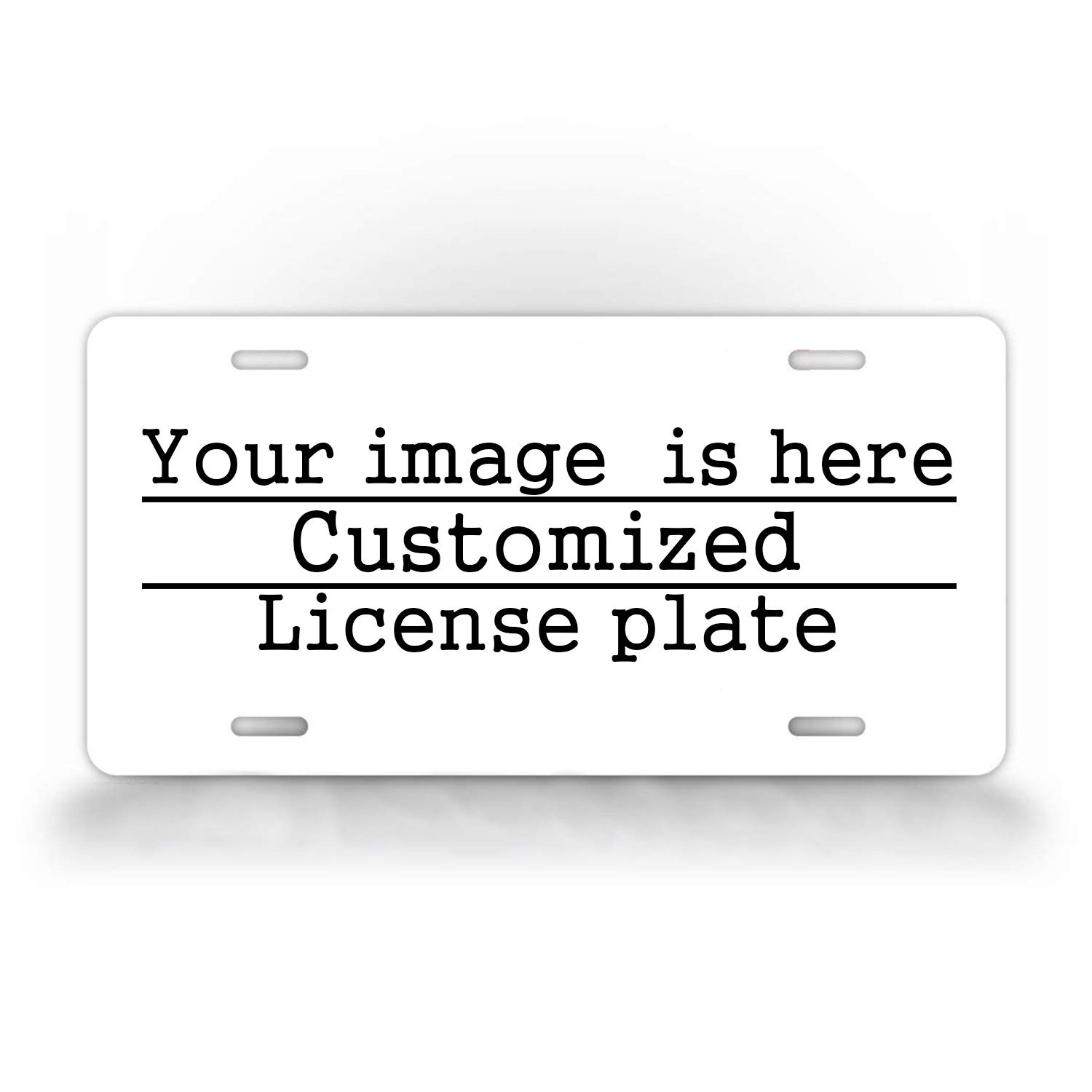 DQVWGK Personalized License Plate with Your Image Add Pictures, Text, Logo - Custom License Plates Auto Car Tag - Metal for Front of Car Aluminum License Plate Covers 6'' x 12'' inch