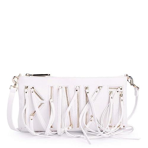 6be93c291fa20 PINKO WOMAN SHOULDER CLUTCH POCHETTE WHITE LEATHER CODE 1P20MH Y27G UNICA -  UNIQUE BIANCO - WHITE  Amazon.co.uk  Shoes   Bags