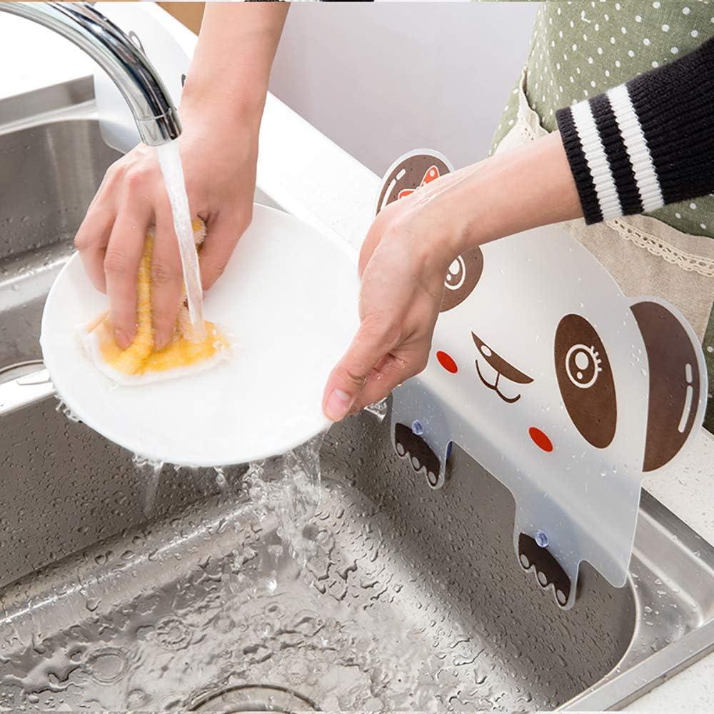 2 placas de retenci/ón a prueba de agua transl/úcidas para fregadero de cocina con ventosa adjunta Omenluck