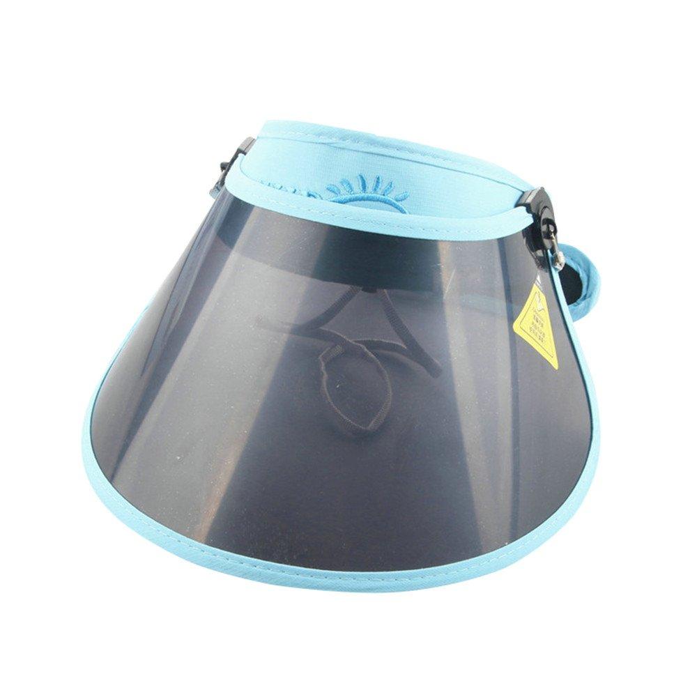 CapsA Sun Visor UV Protection for Kids Toddler Solid Pattern Ultraviolet-Proof Bucket Hats Sun Helmet Cap