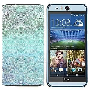 YiPhone /// Prima de resorte delgada de la cubierta del caso de Shell Armor - Waves Beach Art Dibujo Océano Mar Azul Pintura - HTC Desire Eye M910x