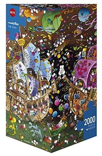 Heye Triangular The Kiss Mordillo Puzzles (2000-Piece)