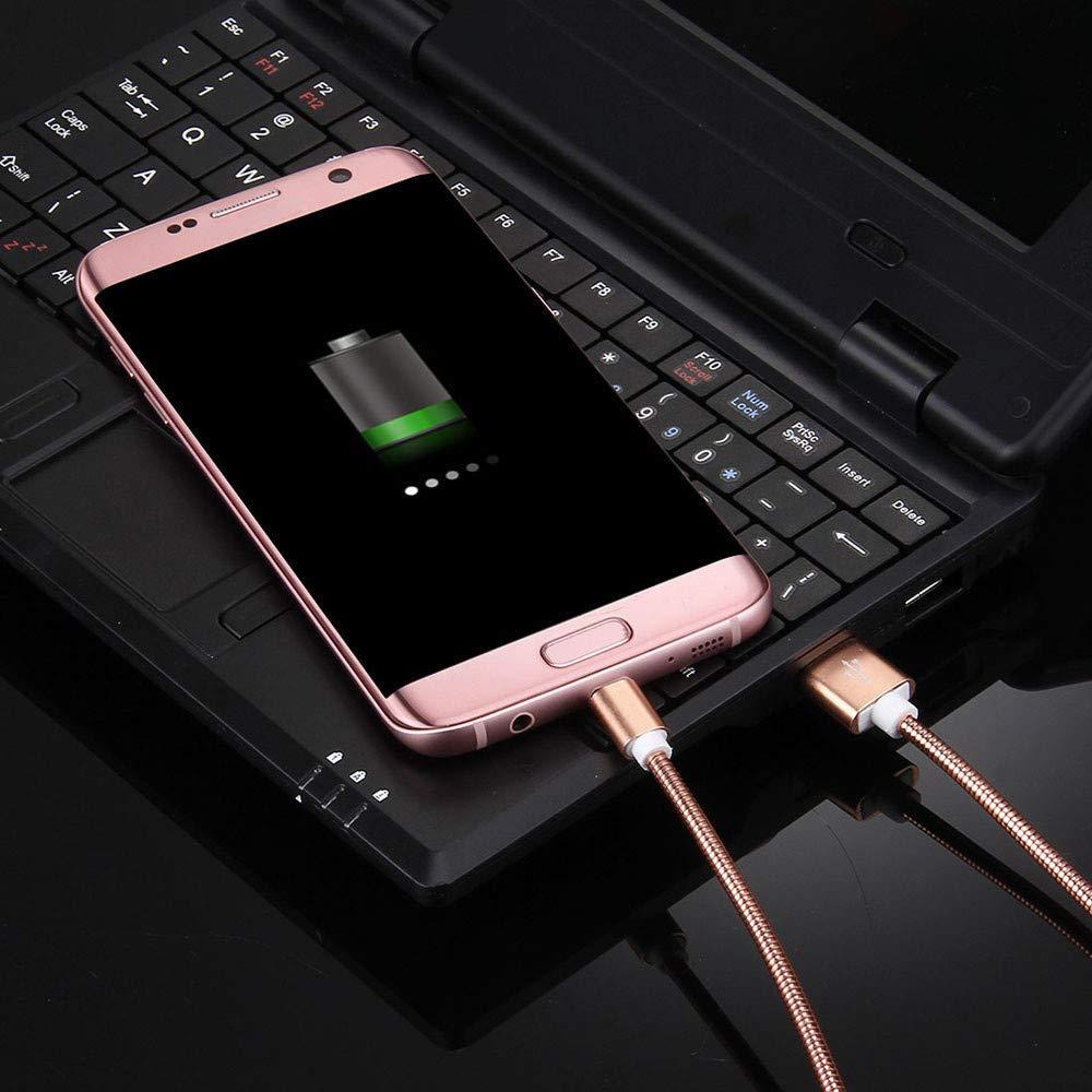 Manette PS4 Tablette C/âble Micro USB Charge Rapide et Data Sync en Metal Tress/é pour Samsung Galaxy S7 S6 Edge J3 J5 J7 A3 A5 A7 2016 Or Rose Huawei P10 Lite P9 Lite GPS