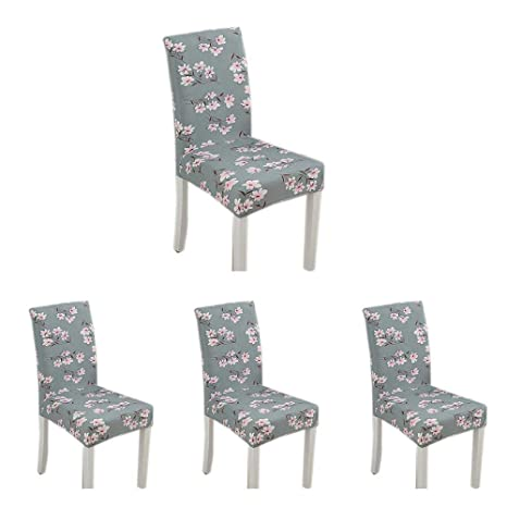 Fine Ooouse Modern Stretch Dining Chair Covers Set Of 4 Dining Chair Slipcovers Removable Washable Spandex Chair Protective Covers For High Chairs Fit Pdpeps Interior Chair Design Pdpepsorg