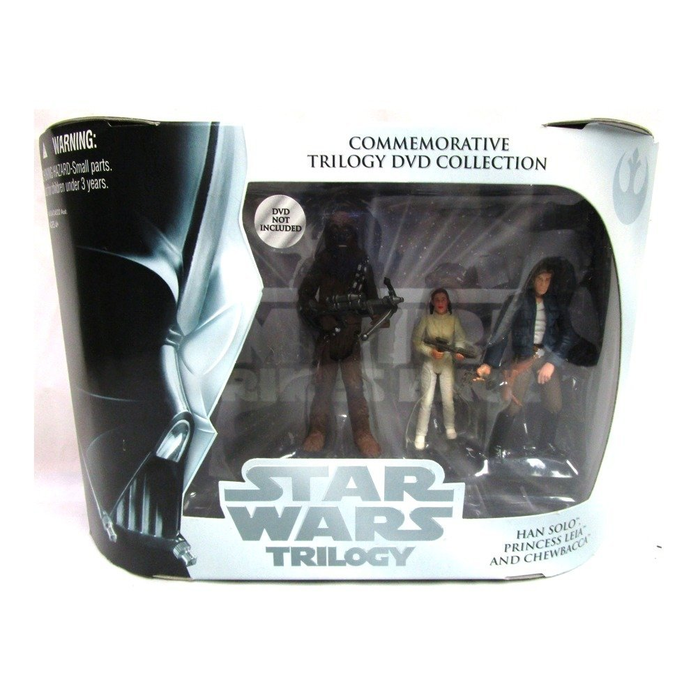 Star Wars Trilogy Empire Strikes Action Figure Set with Chewbacca Hasbro 01085