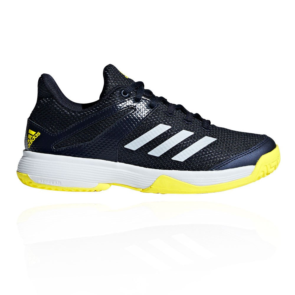 7187326eb0dbb9 adidas Unisex Kids  Adizero Club Tennis Shoes Black  Amazon.co.uk ...