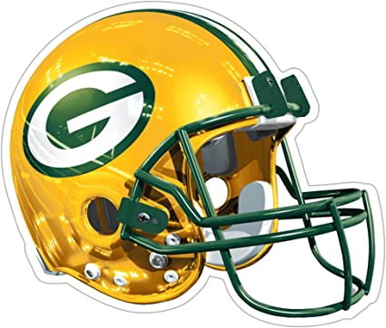 Amazon Com Nfl Green Bay Packers Logo Helmet Magnet Pack Of 1 Sports Fan Automotive Magnets Sports Outdoors