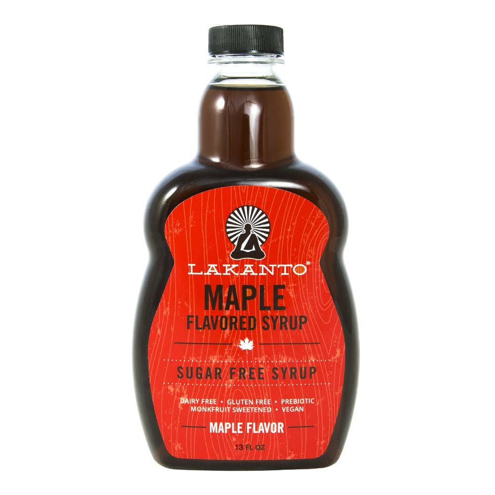 'Lakanto Syrup Maple, 12 oz' from the web at 'https://images-na.ssl-images-amazon.com/images/I/61%2BKMZQb1-L.jpg'