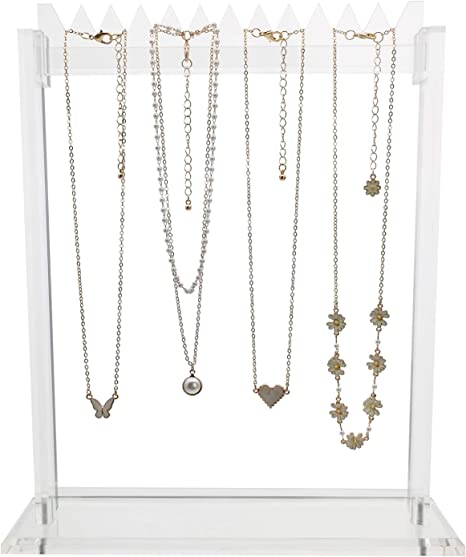 Acrylic Necklace Chain Pendant Bracelet Jewelry Bust Display Rack Stand Holder