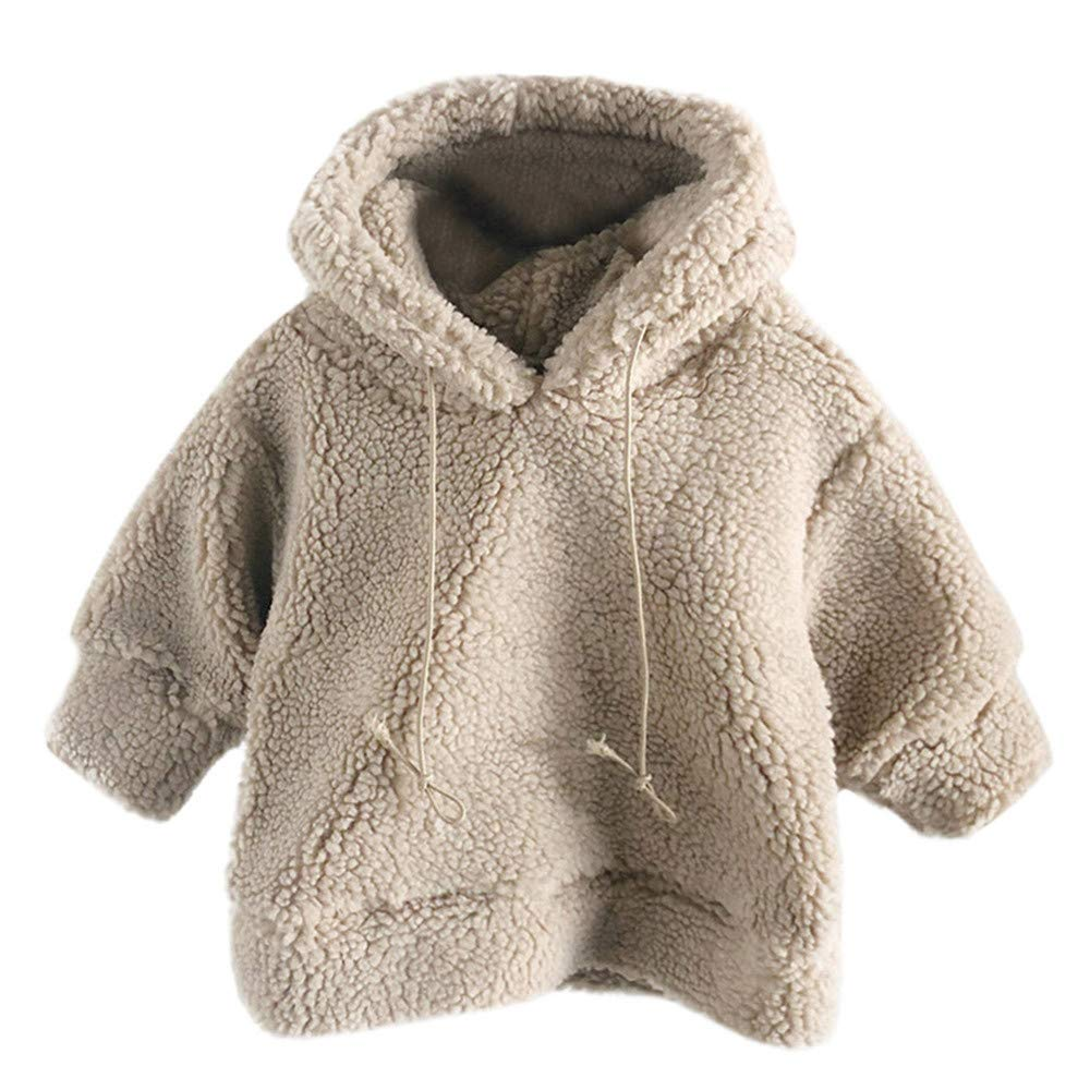 Jarsh Baby Girls Boys Fleece Hoodie Fluffy Coat Sweatshirt Outwear Pullover Tops