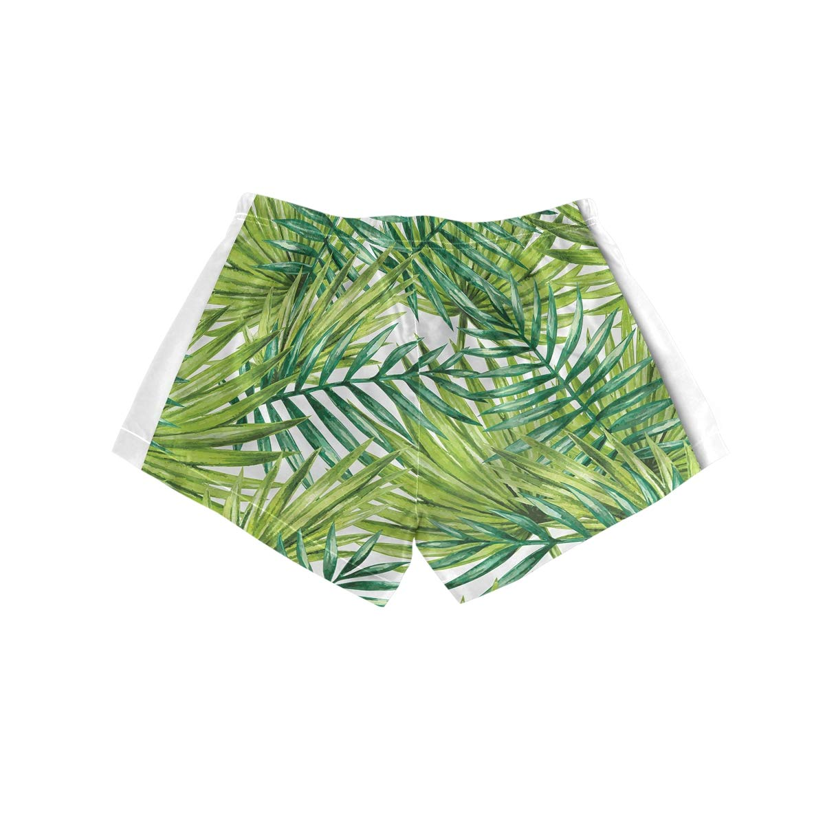 YOLOLIS Women Summer Boardshorts Quick Dry Swimwear Workout Shorts Printed Tropical Palm Leaves