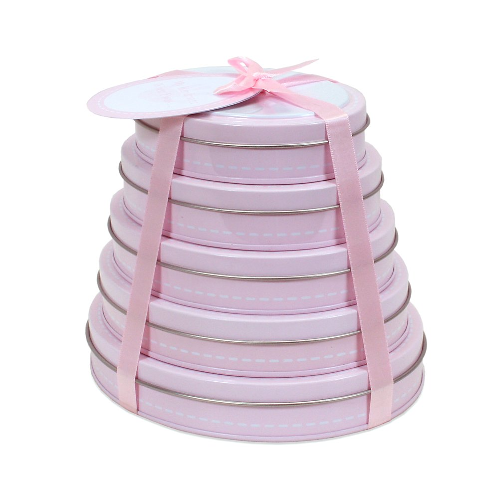 Child to Cherish Handprint Tower of Time Oval Pink