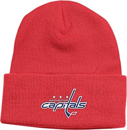 dc8b63ecc73 Amazon.com   Reebok Washington Capitals Red Watch Knit Beanie   Ice ...
