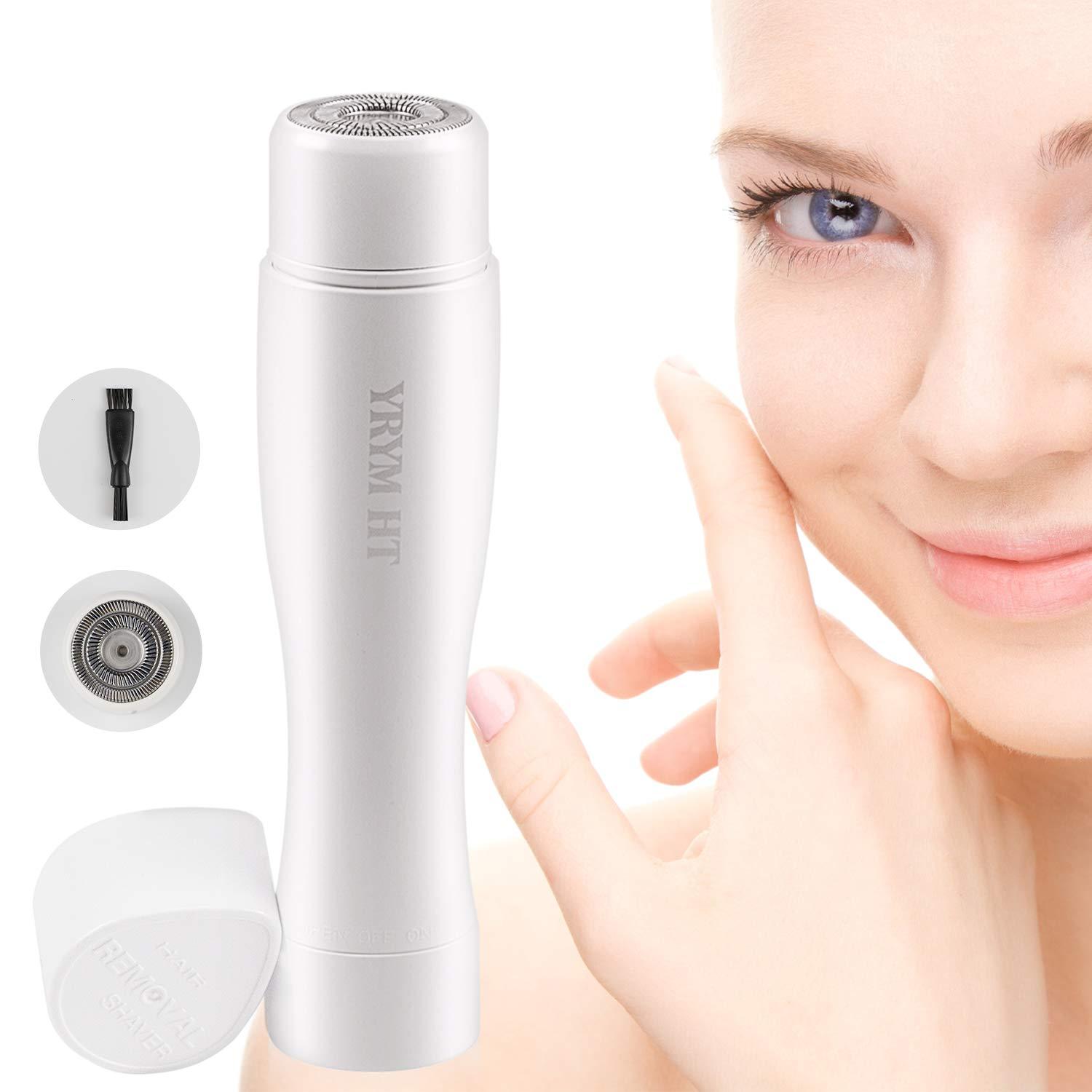 Facial Hair Removal for Women Painless Remover for Face, Lips, Chin and Cheek, Waterproof with 1 Extra Replacement Head,