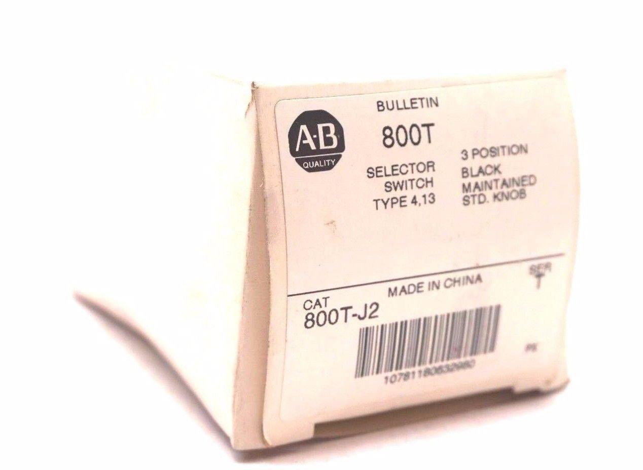 NEW ALLEN BRADLEY 800T-J2 SELECTOR SWITCH SER.T 800TJ2
