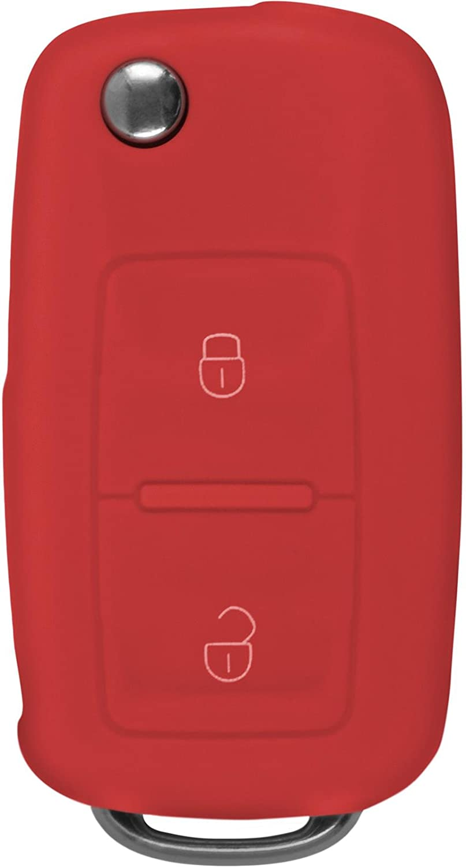 PhoneNatic Schl/üssel H/ülle f/ür die VW 2-Tasten Fernbedienung in gelb Klappschl/üssel 2-Key