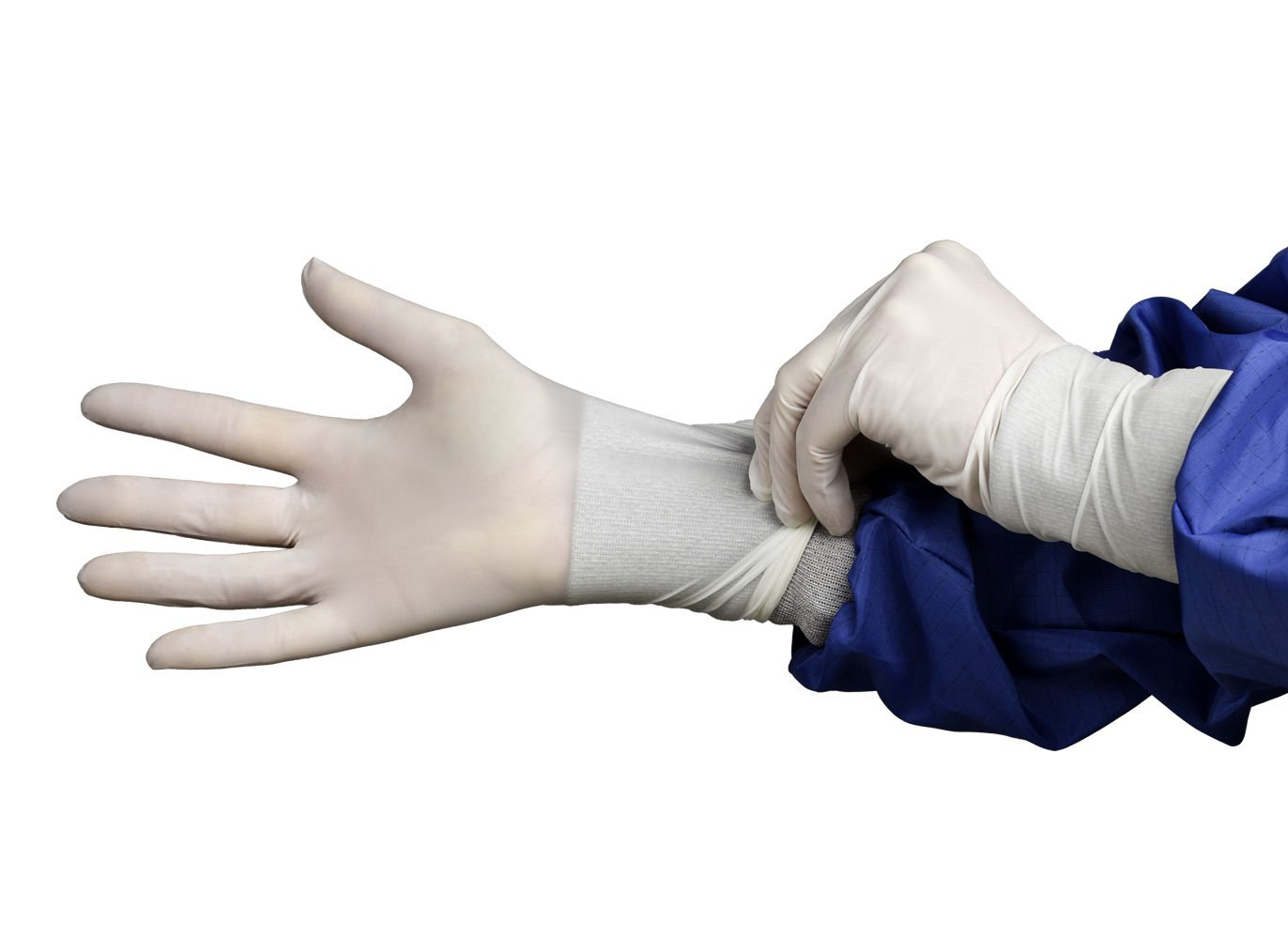 Hourglass HandPRO 9100 Nitrile Ambidextrous Cleanroom Glove, Powder Free, 290mm Length, 0.06mm Thick, Medium (Case of 10 Bags, 100/Bag)
