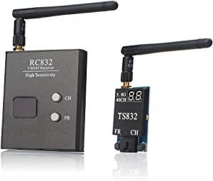 AKK TS832+RC832 5.8G 2000M Range FPV Audio Video Transmitter and Receiver for FPV Drone