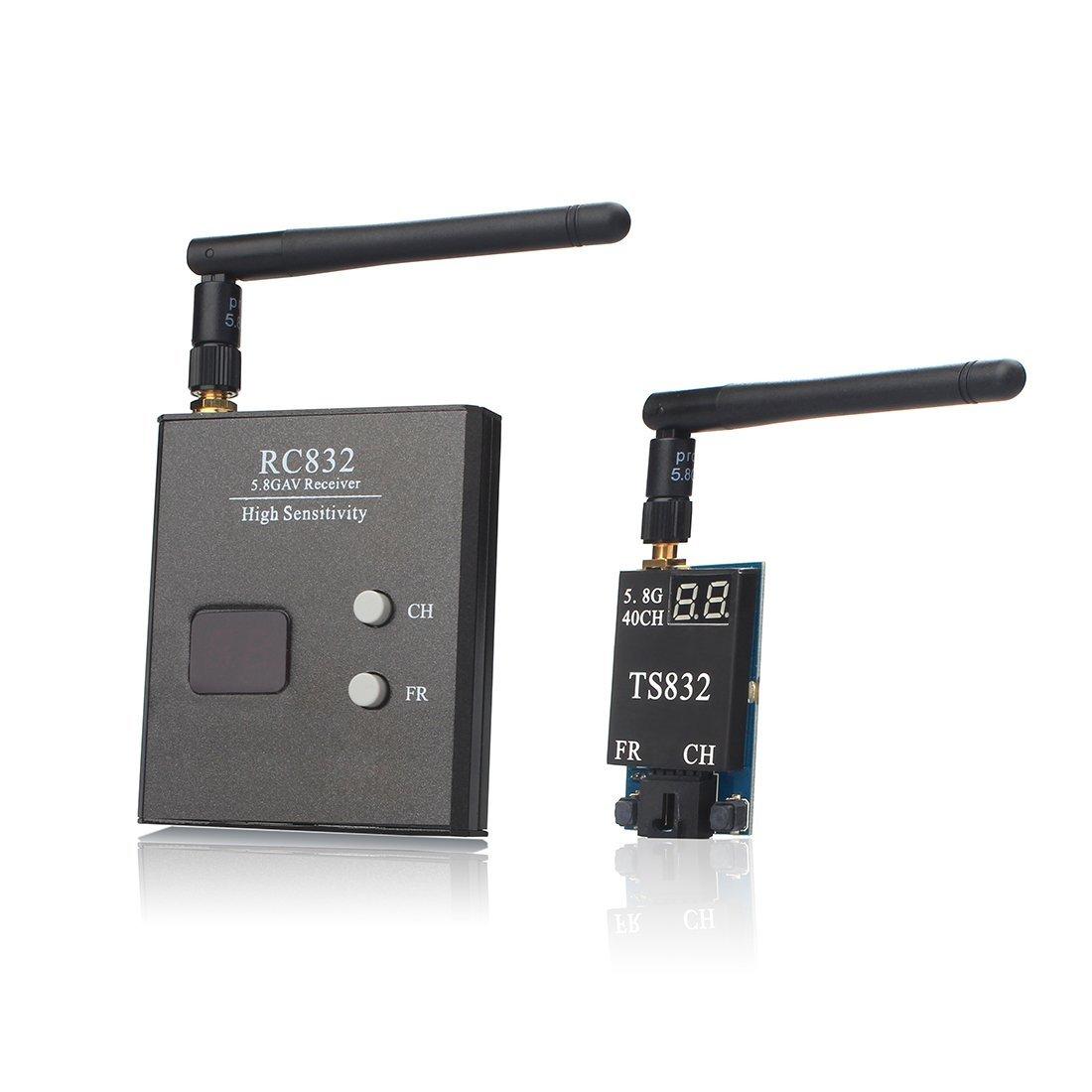 Akk Ts832 + Rc832 5.8g 2000m Rango Fpv Transmisor Y Receptor De Audio Y Video Para Fpv Drone