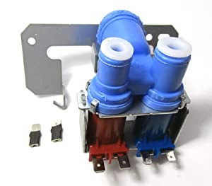 WR57X0111 - REFRIGERATOR DUAL DOUBLE SOLENOID WATER INLET VALVE FOR FRIGS WITH ICE MAKER AND WATER DISPENSER FOR GE MODELS