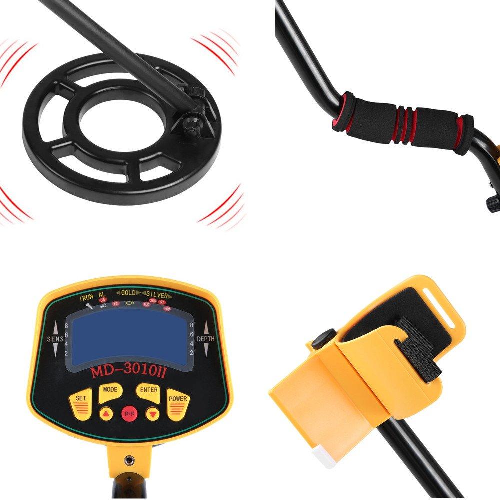 iCoco md3010ii Profundidad Sonda Detector de metales metal Such dispositivo detector metal con pantalla LCD ajustable Longitud y sensibilidad Oro Plata ...