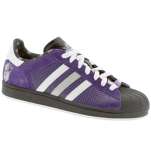 new arrival 102ae d8e82 adidas Men s Superstar 1 NBA Sacramento Kings Basketball Shoes 9 (CO Purple Run  White