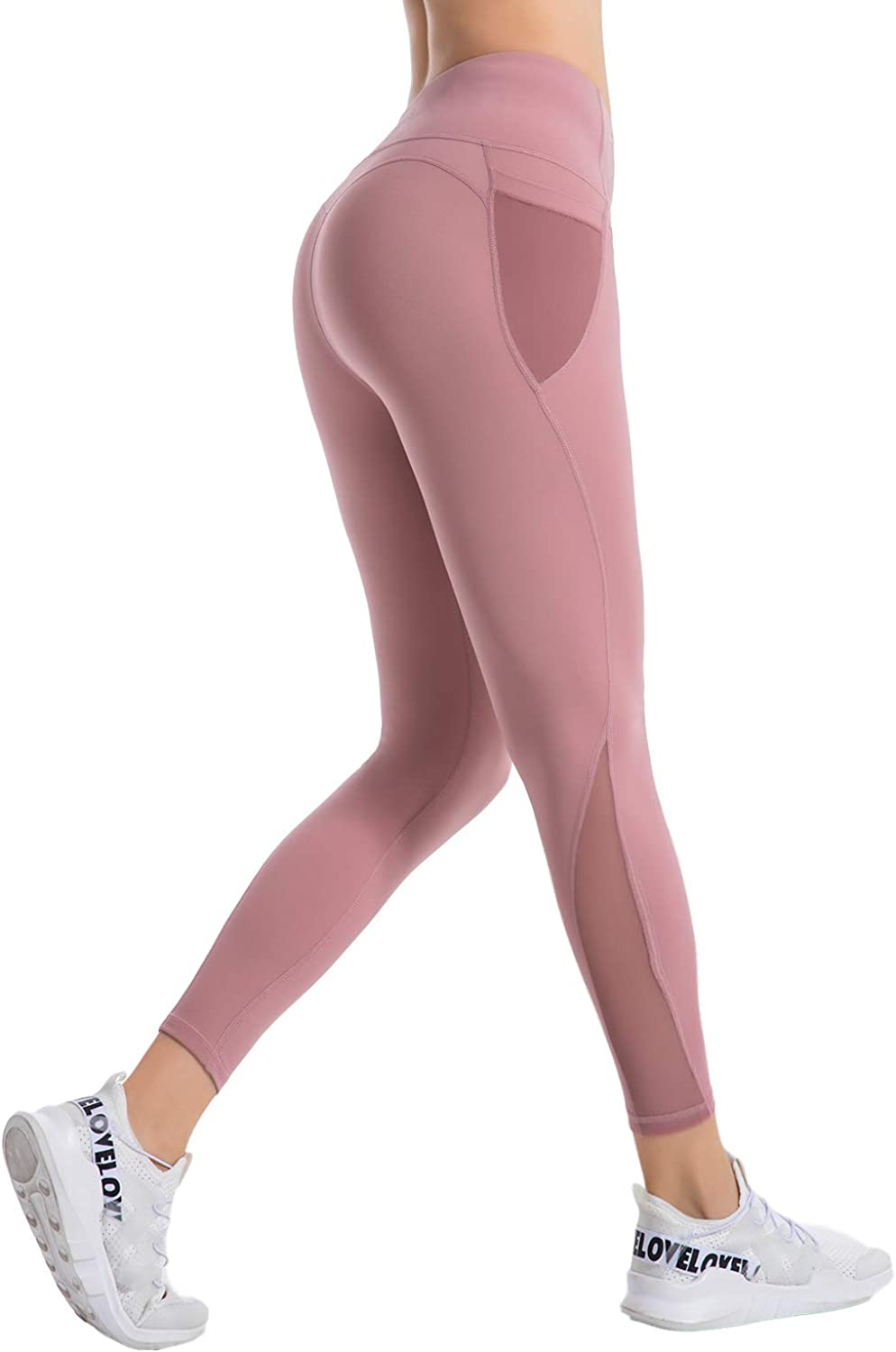 Women Workout Running Leggings Tummy Control Running Tights with Pockets for Women NOE High Waist Yoga Pants with Pockets