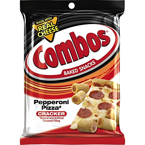 (COMBOS Pepperoni Pizza Cracker Baked Snacks 6.3-Ounce Bag (Pack of 12))