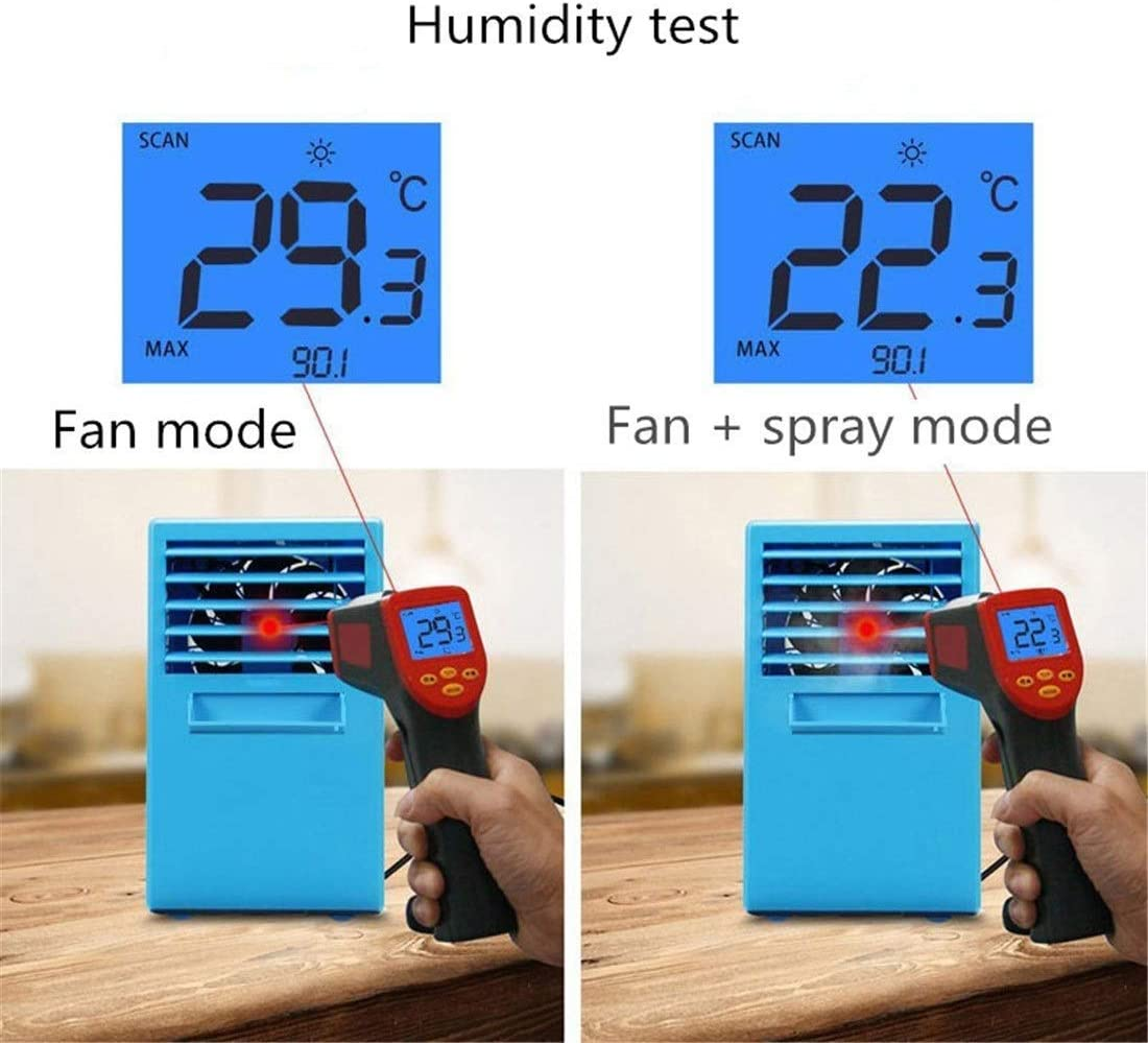Mini Personal Evaporative Air Cooler Small Desktop Cooling Fan TYUIO Portable Air Conditioner Fan Super Quiet Personal Table Fan Mini Evaporative Air Circulator Cooler Humidifier