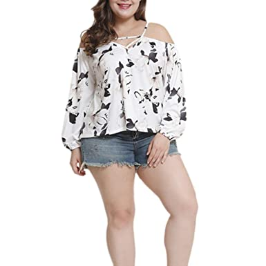 733bb1481447 Oksale Baby Girl's Flora Print Off The Shoulder Crop T-Shirt Tunic Tops  Blouse Large
