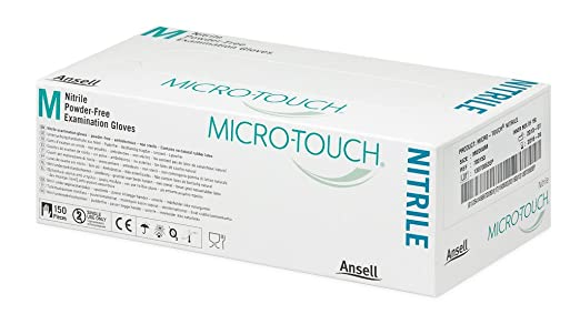 Micro-Touch Nitrile, 6 N, Guante de Examen de Nitrilo sin ...