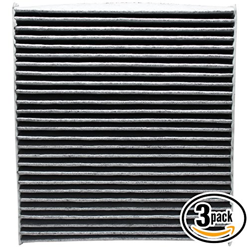 3 Pack - Cabin Air Filter 5058693AA with Activated Carbon Replacement for Jeep, Dodge, Chrysler - Compatible with 2014 Jeep Patriot, 2013 Dodge Avenger, 2012 Chrysler 200, 2013 Chrysler 200