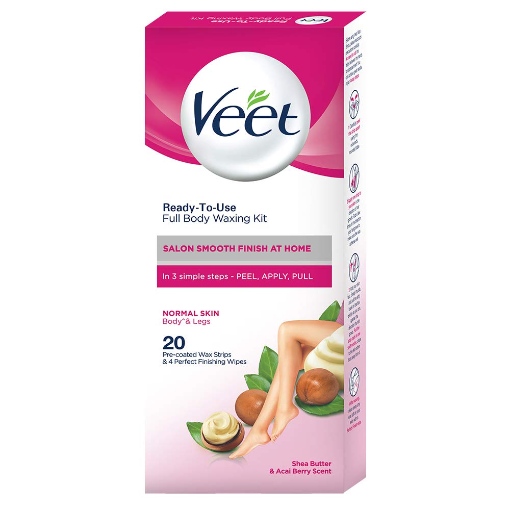 Buy Veet Full Body Waxing Kit Normal Skin 20 Strips Online At