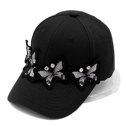 LXMDCAPA Sombrero Gorras De Béisbol Sólidas De La Mariposa del Algodón para Los Casquillos Ajustables del
