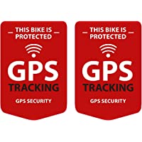GPS Tracking 2 stycken klistermärken för cykel, Bike Sticker – vädertålig, UV-beständig