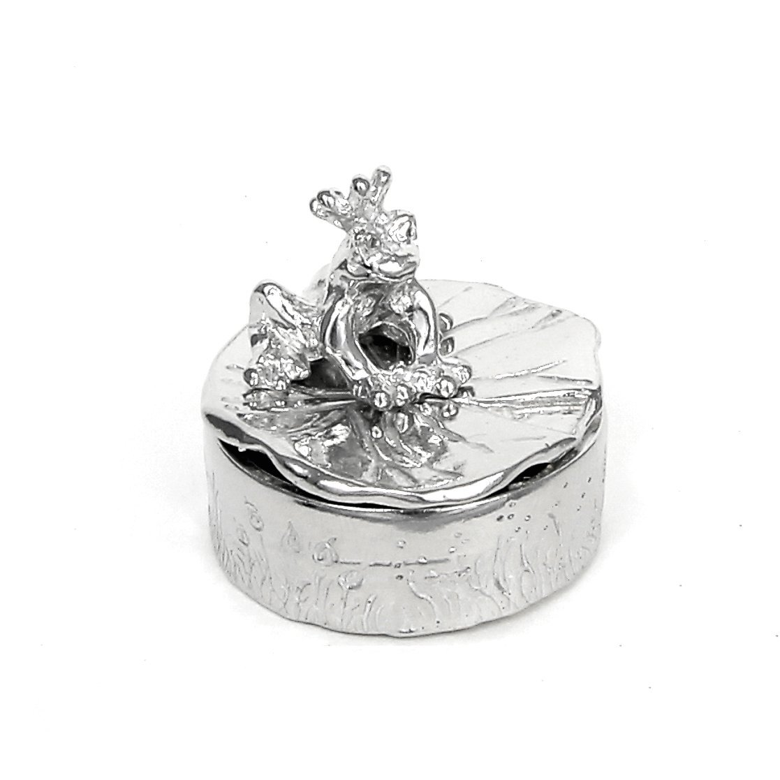 Frog Prince Tooth Fairy Treasure Box - Gift Boxed - Handcrafted Pewter Made in USA