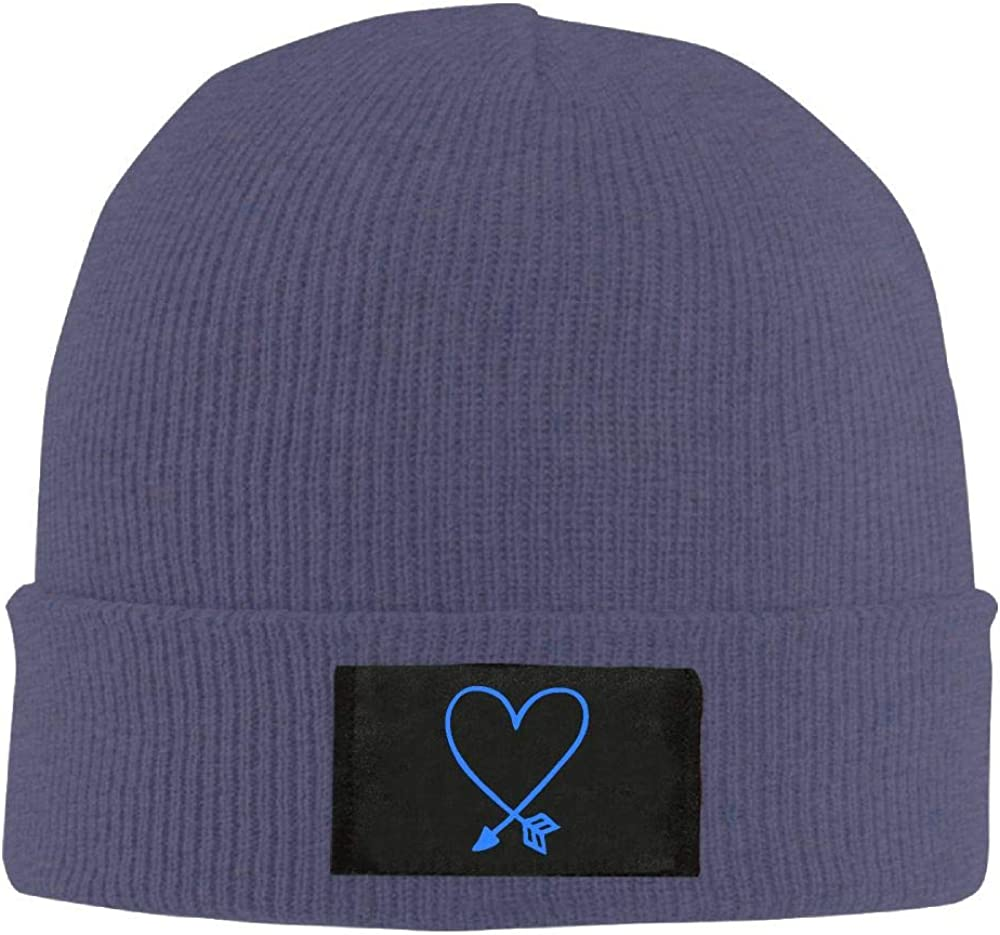 Adult Unisex Valentines Day Arrow Heart Casual Knitted Hat
