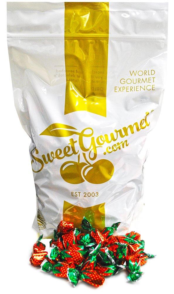 Arcor Strawberry Buds Filled Hard Candy Bon Bons bulk wrapped candy bulk (4Lb)